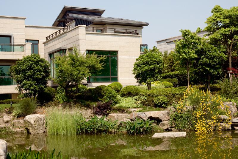 上海绿洲江南园(现代中式别墅景观)