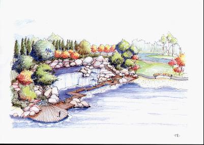 邻水建筑手绘新中式